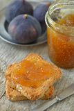 Fig Jam and rusk. Fig Jam and crispy rusk Stock Image