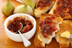 Fig Jam Sandwiches Royalty Free Stock Photography