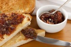 Fig Jam Sandwiches Stock Photos