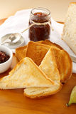 Fig Jam And Toast Stock Photography