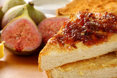 Fig Jam On Toast Royalty Free Stock Photography