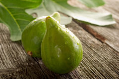 Fig with leaf Stock Photos