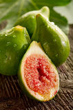 Fig with leaf Stock Photography
