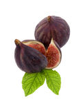 Fig with leaf Royalty Free Stock Photography