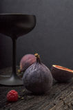 Fig. met zwart glas Royalty-vrije Stock Afbeelding