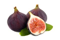 Fig and mint Royalty Free Stock Image
