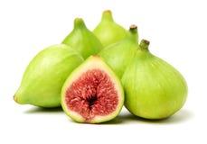 Fig owoc całe i rżnięta połówka zdjęcie royalty free