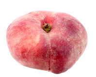 Fig peach. On a white background Royalty Free Stock Photos