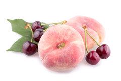 Fig peach. On a white background Stock Images
