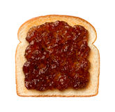 Fig Preserves on Toast. Aerial view of Fig Preserves on Toast Royalty Free Stock Photos