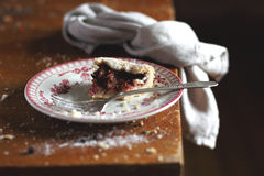 Fig and Raspberry pie on a plate Royalty Free Stock Images