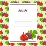 Fig recipes on a seamless texture. Fig. Blank culinary recipes on a seamless texture Stock Photography