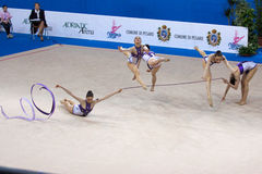 FIG Rhythmic Gymnastic WORLD CUP PESARO 2009 Stock Image