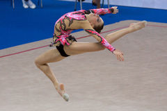 FIG Rhythmic Gymnastic WORLD CUP PESARO 2009 Royalty Free Stock Photography