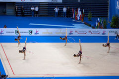 FIG Rhythmic Gymnastic WORLD CUP PESARO 2009 Royalty Free Stock Photo