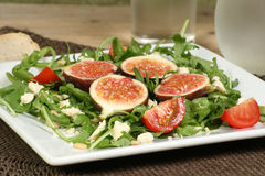 Fig and rocket salad Royalty Free Stock Photography