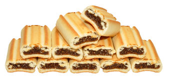 Fig Roll Biscuits Royalty Free Stock Photo