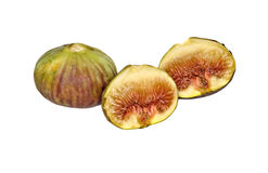 Fig and sections Royalty Free Stock Image