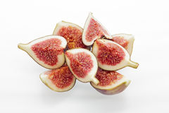 Fig segments. Stacked on a white background Stock Image