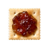 Fig Spread on a Cracker Royalty Free Stock Photo