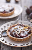 Fig tart with almonds and sugar Stock Image
