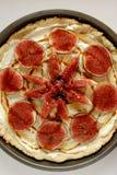 Fig tart with mascarpone and honey Royalty Free Stock Image