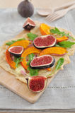 Fig Tarte Stock Photography