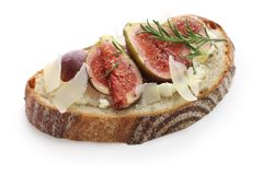 Fig tartine Stock Photography