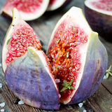 Fig with thyme Royalty Free Stock Photography