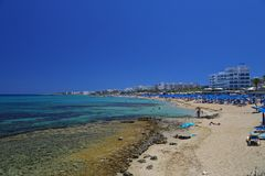 Fig tree bay in Cyprus Stock Image