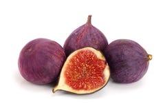 Fig.vruchten met de helft op witte achtergrond Royalty-vrije Stock Afbeelding