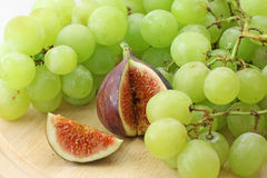 Fig and white grape Stock Photo