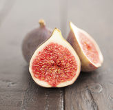 Fig on wood Royalty Free Stock Image
