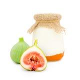 Fig yogurt Royalty Free Stock Photo
