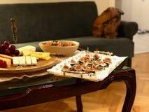 Figa Canepe z Roquefort Błękitnym serem i grzanka chlebem zdjęcia royalty free