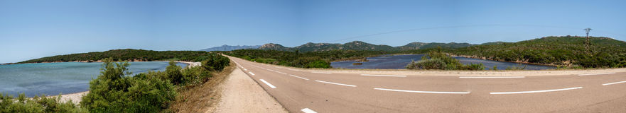 Figari road Royalty Free Stock Image