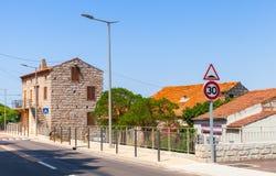 Figari, Süd-Korsika Alte rurar Häuser Lizenzfreie Stockfotografie