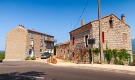 Figari, South Corsica. Old rurar houses Royalty Free Stock Images