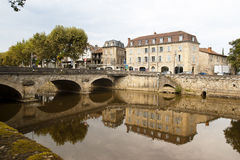 Figeac and river of Le Cele Royalty Free Stock Photography