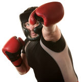 Fighers Throws a Punch Royalty Free Stock Photography