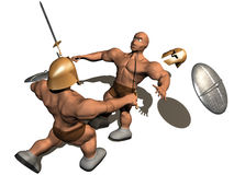 Fight 3d. 3d render of fighting of two person Stock Photo