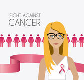 Fight against breast cancer campaign. Design, vector illustration Stock Photography