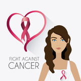 Fight against breast cancer campaign. Design, vector illustration Royalty Free Stock Image