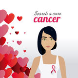 Fight against breast cancer campaign. Design, vector illustration eps10 Stock Photos