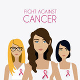Fight against breast cancer campaign. Design, vector illustration eps10 Stock Photography
