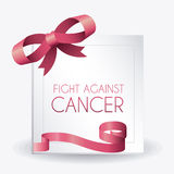 Fight against breast cancer campaign. Design, vector illustration eps10 Royalty Free Stock Photos