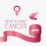 Fight against breast cancer campaign Stock Image