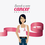 Fight against breast cancer campaign. Design, vector illustration eps10 Royalty Free Stock Images