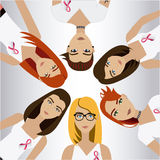 Fight against breast cancer campaign. Design, vector illustration eps10 Royalty Free Stock Photo