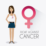 Fight against breast cancer campaign. Design, vector illustration eps10 Royalty Free Stock Image